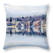 Spring Time Waterfront Throw Pillow
