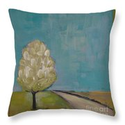 Spring Tree Throw Pillow