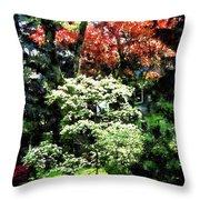 Spring Trees Throw Pillow