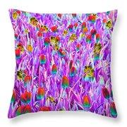 Spring Tulips - Photopower 3121 Throw Pillow