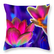 Spring Tulips - Photopower 3152 Throw Pillow
