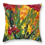 Spring Tulips Triptych Panel 1 Throw Pillow