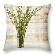 Spring Vase Throw Pillow