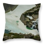 Spring Waterfall Arial Throw Pillow