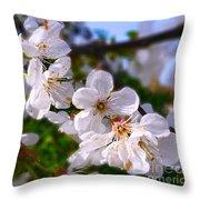 Spring White Throw Pillow