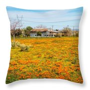 Spring Wildflower Farm Throw Pillow