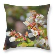 Spring Wildflower Throw Pillow