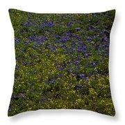 Spring Wildflowers Throw Pillow