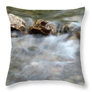 Spring With Rocks Nature Scene Throw Pillow
