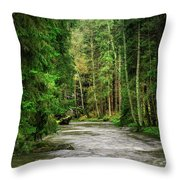 Spring Woods Greenery Throw Pillow