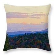 Springfield New Hampshire Mountain Veiw Fall Colors Throw Pillow
