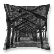 Springmaid Pier In Myrtle Beach South Carolina Throw Pillow