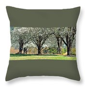Spring's Canopy Throw Pillow