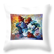 Springs Smile - Palette Knife Oil Painting On Canvas By Leonid Afremov Throw Pillow