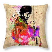 Springsteen Colored Grunge Throw Pillow