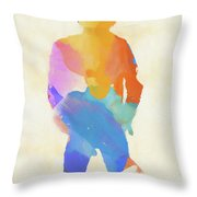 Springsteen From Behind Throw Pillow