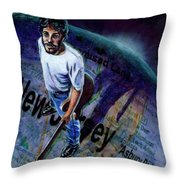 Springsteen Spans The Globe Throw Pillow