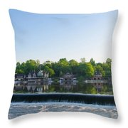 Springtime At Boathouse Row In Philadelphia Throw Pillow