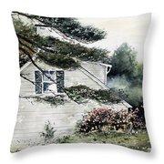 Springtime At Round Pond Maine Throw Pillow
