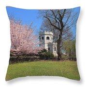 Springtime At The Botanical Garden Throw Pillow
