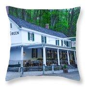 Springtime At The Valley Green Inn Throw Pillow