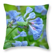 Springtime Bluebells  Throw Pillow by Lori Frisch