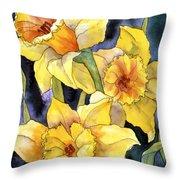 Springtime Daffodils Throw Pillow
