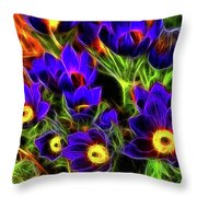Springtime Fire Throw Pillow