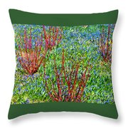 Springtime Impression Throw Pillow