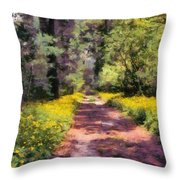Springtime In Astroni National Park In Italy Throw Pillow