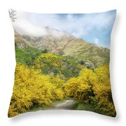 Springtime In New Zealand Throw Pillow