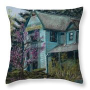Springtime In Old Town Throw Pillow