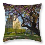 Springtime In Paris Throw Pillow by Brian Jannsen