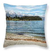 Springtime In Queenstown Throw Pillow