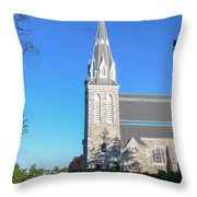 Springtime In Radnor - Villanova University Throw Pillow