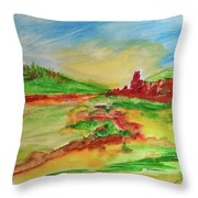 Springtime In The Valley Throw Pillow