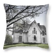 Springtime Ledge Homestead-bicolor Throw Pillow