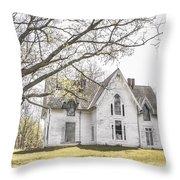 Springtime Ledge Homestead Throw Pillow