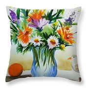 Springtime Melody Throw Pillow