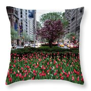 Springtime On Park Avenue Throw Pillow