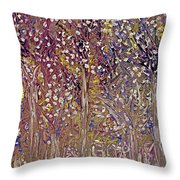 Springtime Painting Throw Pillow by Don  Wright
