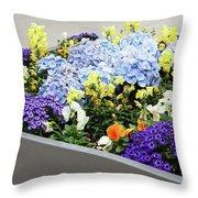 Springtime Planter Throw Pillow
