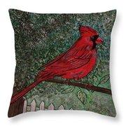 Springtime Red Cardinal Throw Pillow