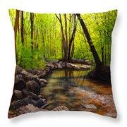 Springtime Reflected Throw Pillow