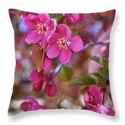 Springtime Romance Throw Pillow
