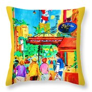 Springtime Stroll Throw Pillow