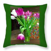 Springtime - Tuliptime Throw Pillow