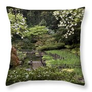 Springtime Walkway Throw Pillow