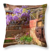 Springtime Wisteria In Old Bisbee Throw Pillow