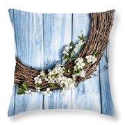 Springtime Wreath Throw Pillow